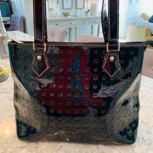 Arcadia Black Patent Leather Bag Purse